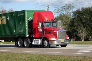 container semi tractor-trailer